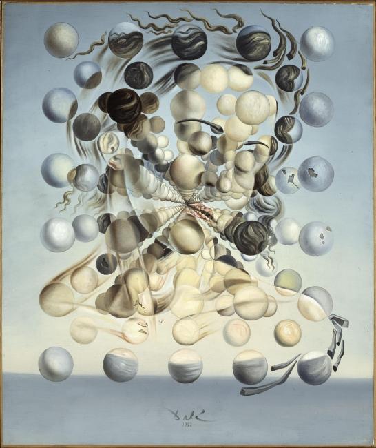 Salvador Dalí. Gala Placidia. Galatea de las esferas, 1952. Fundació Gala- Salvador Dalí, Figueres. © Salvador Dalí, Fundació Gala-Salvador Dalí, VEGAP, Barcelona, 2018 — Cortesía del Museu Nacional d'Art de Catalunya