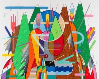 Sixe Paredes, El Espíritu de la Montaña, Acrilico sobre tela, medidas 130x162 cm.