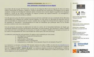 Congreso internacional: Arte, patrimonio y tecnología en la era digital