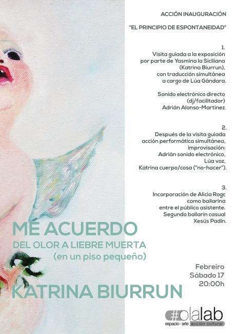 Acciones | Ir al evento: 'Me acuerdo del olor a liebre muerta (en un piso pequeño)'. Exposición de Pintura en olalab acción cultural / Santiago de Compostela, A Coruña, España