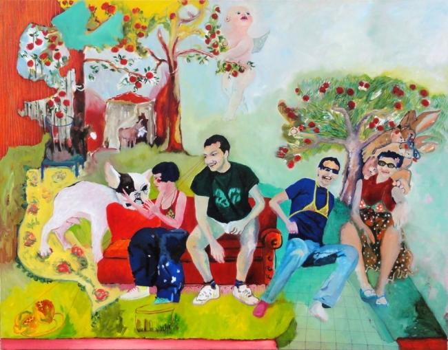 Katrina Biurrun – Cortesía de OLALAB Acción Cultural | Ir al evento: 'Me acuerdo del olor a liebre muerta (en un piso pequeño)'. Exposición de Pintura en olalab acción cultural / Santiago de Compostela, A Coruña, España