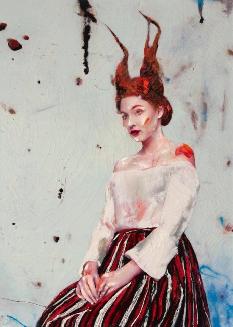 Lucía 01, 2017 Técnica mixta sobre lienzo 280 x 200 cm