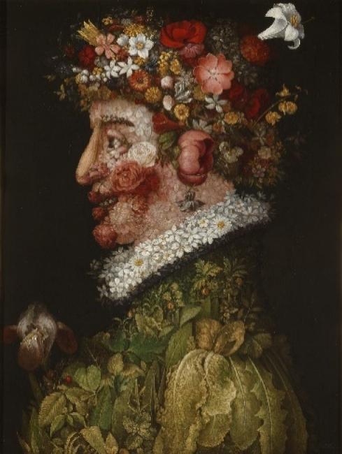 Giuseppe Arcimboldo (1526-1593). La Primavera (1563). Óleo sobre tabla. 66x50cm