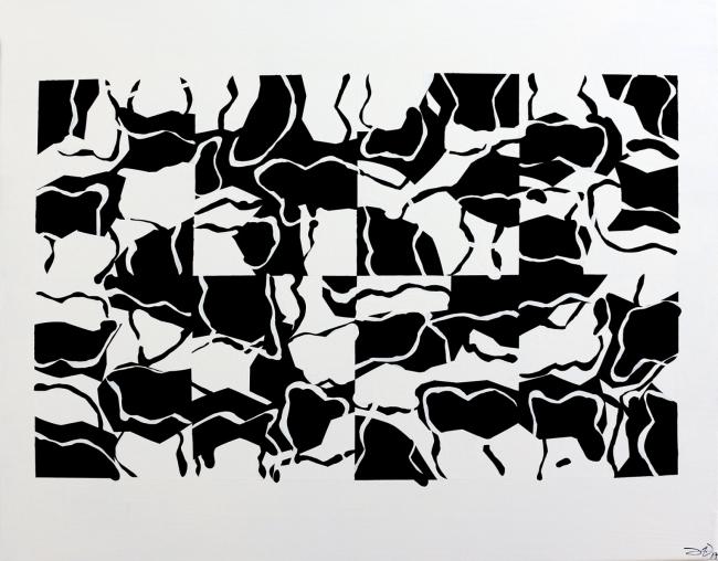 De la serie Grillas | Ir al evento: 'Adornos'. Exposición de Pintura en Factoría de Arte Santa Rosa / Santiago, Region Metropolitana, Chile
