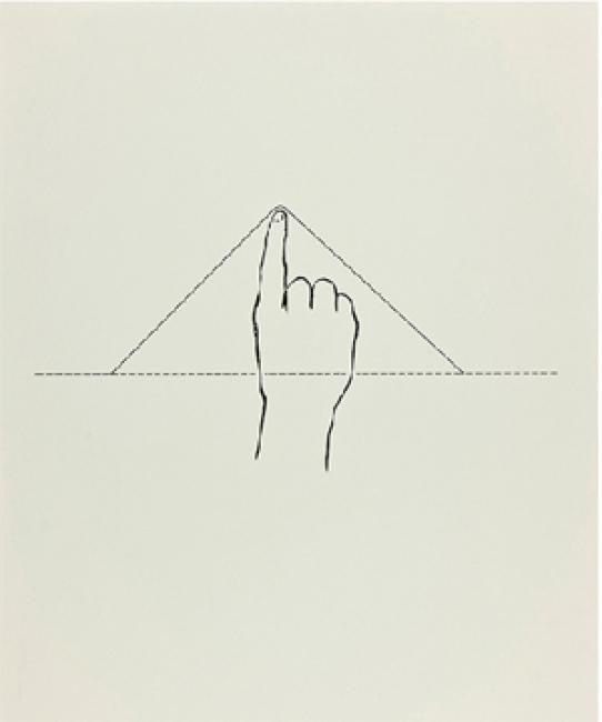 Poema visual, 1988, 50 x 38 cm | Ir al evento: 'Joan Brossa en Shanghái'. Exposición de Artes gráficas, Diseño en Consulado General de España - Biblioteca Miguel de Cervantes / Shanghai, China