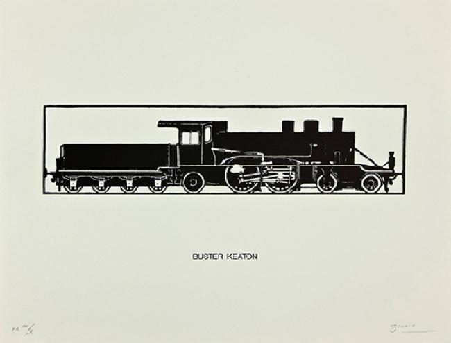 Buster Keaton, 1989, 38 x 50 cm