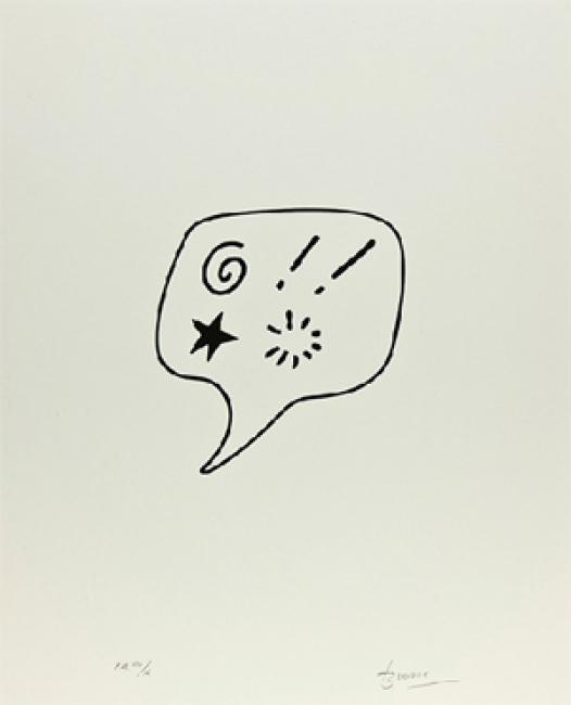 Blasfemia, 1989, 50 x 38 cm | Ir al evento: 'Joan Brossa en Shanghái'. Exposición de Artes gráficas, Diseño en Consulado General de España - Biblioteca Miguel de Cervantes / Shanghai, China