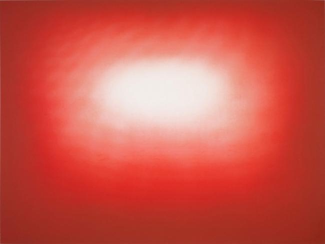 Anish Kapoor, Red Shadow 9, 2016. Aguafuerte, 72,4 x 96 cm. Edición 39 ejemplares. 426100 — Cortesía de la Galería La Caja Negra