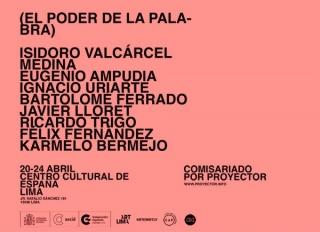 Ir al evento: 'El Poder de la Palabra'. Exposición en Centro Cultural de España - CCE Lima / Lima, Perú