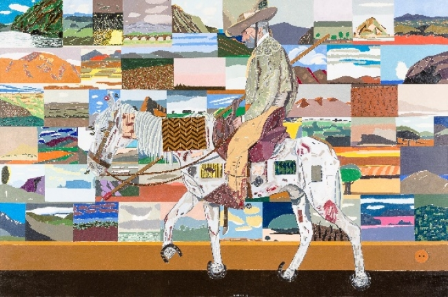 Eduardo Arroyo (1937-). Le retour des croisades (2017). Óleo sobre lienzo. 200x300cm.