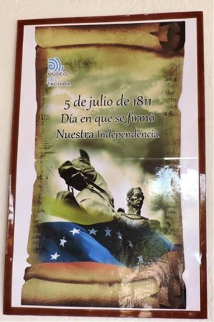 5 de julio de 1811. Imagen cortesía  Museo del Táchira
