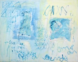 António Sena, Sem título, 1990, acrylic on canvas, 73 x 92 cm. — Cortesía de Caroline Pagès Gallery