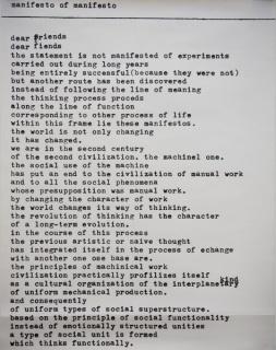 Mangelos  Manifesto of manifesto, 1977 Serigrafía sobre papel 71 x 50 cm Colección MUSAC  © Mangelos / Cortesía MUSAC