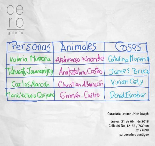 Personas, Animales y Cosas