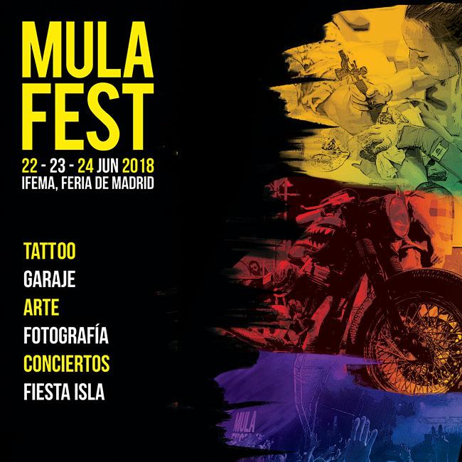 CARTEL MULAFEST 2018 | Ir al evento: 'Mulafest 2018'. Feria de arte de Arte en vivo, Arte urbano, Artes gráficas, Fotografía, Pintura en IFEMA / Madrid, España