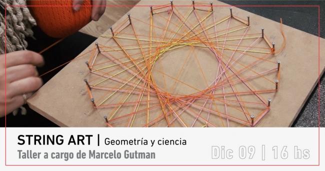 STRING ART   ARTE Y CIENCIA. Imagen cortesía MACBA