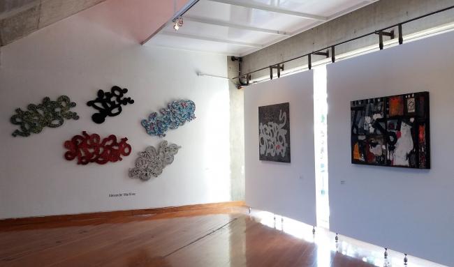 Alexander Martínez (izquierda y centro); José Gregorio Graterón (derecha) | Ir al evento: 'Urbes'. Exposición de Arte urbano, Fotografía, Pintura en Sala William Werner. Centro de Artes Integradas / Caracas, Distrito Federal, Venezuela