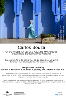 """Cartel exposición """"Chefchauen. La ciudad azul de Marruecos"""" en Toledo"""