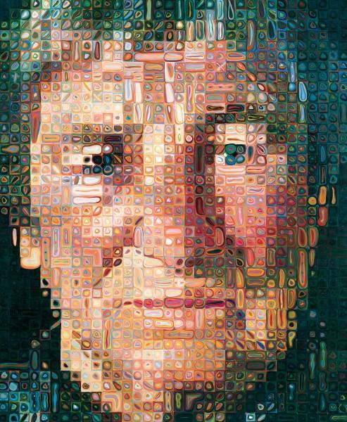 Obra de Chuck Close. Cortesía del SFMOMA