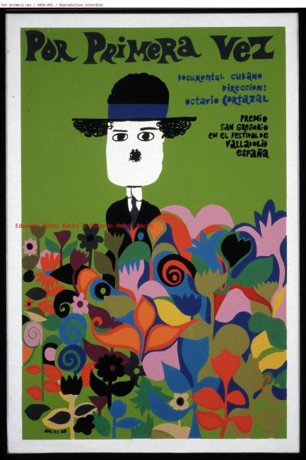 Por primera vez, 1968. Cartel, serigrafía sobre papel, 1968, 51 x 76 cm © Eduardo Muñoz Bachs | Ir al evento: 'Cine y emociones. Un viaje a la infancia'. Exposición en CaixaForum Girona / Girona, España