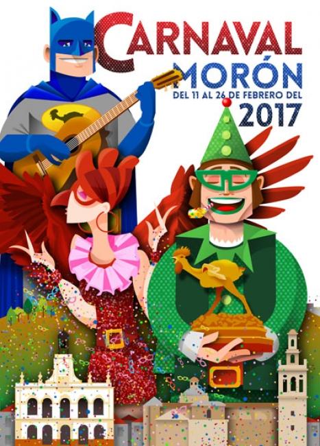 cartel 2017 | Ir al evento: 'Concurso Cartel Carnaval 2018 Morón de la Frontera'. Concurso de Arte digital, Diseño, Pintura