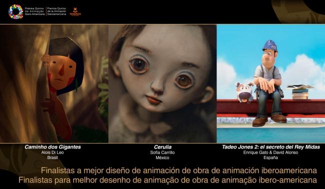 Finalistas Mejos Diseño de Animación