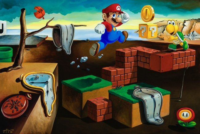 GG_The-persistence-of-mario. Cortesía de La Fiambrera | Ir al evento: 'In Dreams'. Exposición en La Fiambrera Art Gallery & Bookshop / Madrid, España