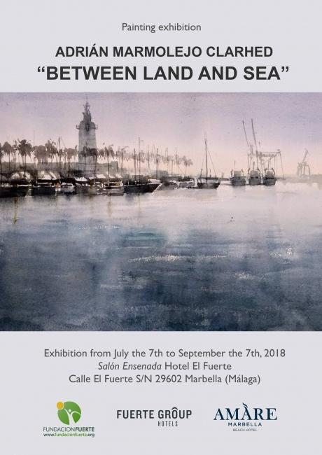 Cartel Exposición Entre Tierra y Mar - Inglés
