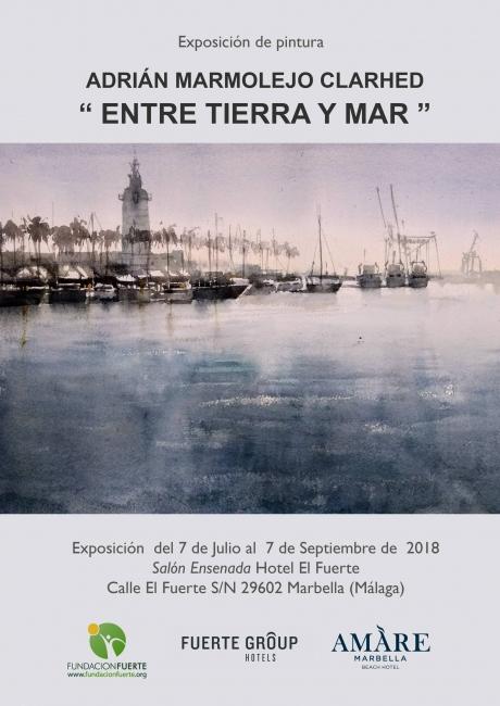 Cartel Exposición Entre Tierra y Mar - Español