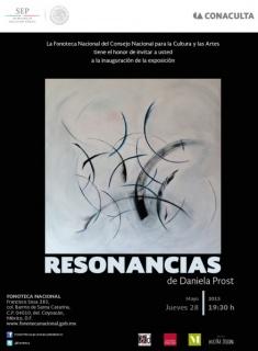 Daniela Prost, ``RS 03´´ Serie Resonancias, Acrílico sobre tela 160x160cm, 2014