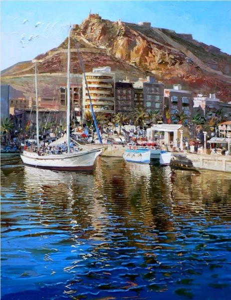 Reflejos en el puerto de Alicante