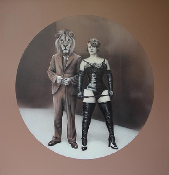 El juego de la dominación | Ir al evento: 'Gisela Banzer'. Exposición de Pintura en Museo de Arte Contemporáneo Latinoamericano (MACLA) / La Plata, Buenos Aires, Argentina
