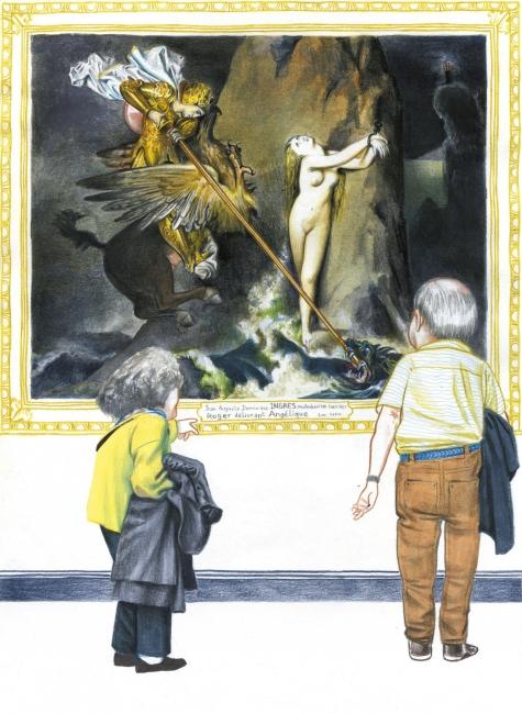 Florent Chavouet, L'Île Louvre (facsímil). Impresión digital, 2015. Louvre Éditions. Futuropolis – Cortesía de Afundación