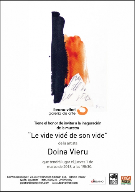 LA VIDE VIDÉ DE SON VIDE. Imagen cortesía Galería Ileana Viteri