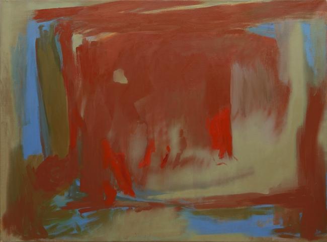 Composición, 1992, Esteban Vicente, Óleo sobre tela. 125 x 167 cm – Cortesía de la Galeria Guillermo de Osma