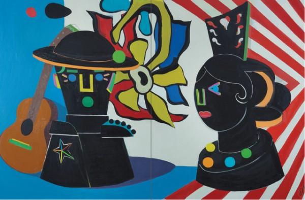 Elisabeth Ollé Curiel, Diálogo y guitarra | Ir al evento: 'Diálogos'. Exposición de Escultura, Pintura en Jorge Alcolea / Madrid, España