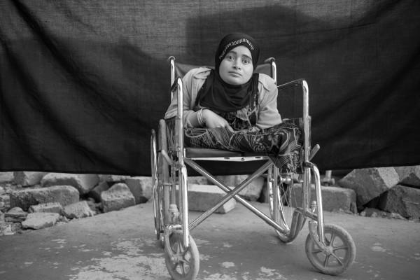 Alia, 24 años, en el campo de refugiados de Domiz en Kurdistán, Iraq (15 de noviembre de 2012). Brian Sokol / ACNUR