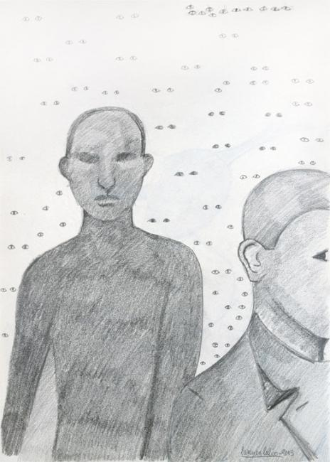 Carmen Calvo. S/T, 2003. Collage y dibujo sobre papel | Ir al evento: 'Carmen Calvo'. Exposición en Tiempos Modernos / Madrid, España