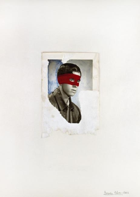 Carmen Calvo, S/T, 2003. Collage y dibujo sobre papel | Ir al evento: 'Carmen Calvo'. Exposición en Tiempos Modernos / Madrid, España