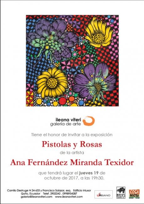 PISTOLAS Y ROSAS. Imagen cortesía Galería Ileana Viteri