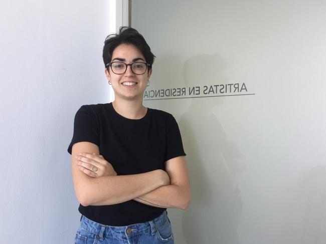 La artista grancanaria Saskia Rodríguez, en el CAAM – Cortesía del Centro Atlántico de Arte Moderno-CAAM