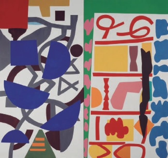 Shirley Jaffe (Sternstein Shirley, dit). All Together, 1995. Díptico, óleo sobre lienzo, 240 x 254 cm. Adquisición en 1996/ AM 1996-92. © Adagp, Paris. Centre Pompidou, MNAM-CCI/Philippe Migeat/Dist. RMN-GP – Cortesía del Centre Pompidou Málaga