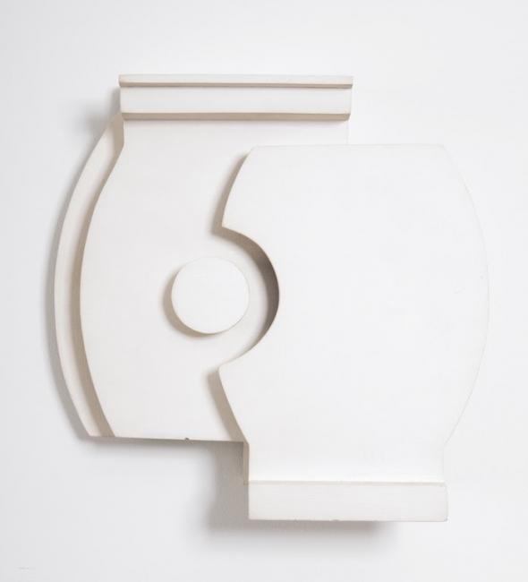 Eduardo Ramírez Villamizar, White relief Nº 2, 1966, Relief on wood,  4.72 x 4.72 x 1.38 in. / 12 x 12 x 3.5 cm. Cortesía de Durban Segniny