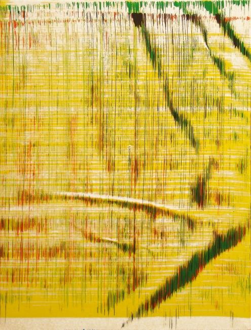 Sergio Barrera. Antigesto (rizomas), nº 19. 46 x 34,5 cm. Acrílico sobre lienzo. 2018 – Cortesía de SET ESPAI D'ART