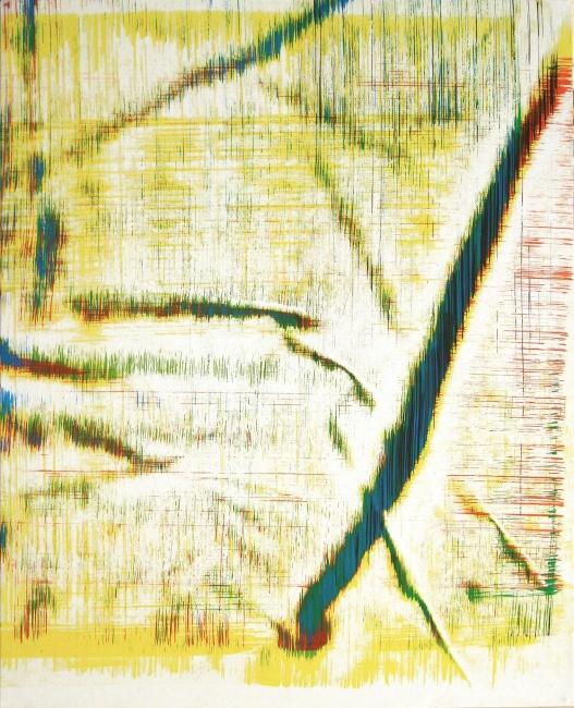 Sergio Barrera. Antigesto (rizomas), nº 21. 52 x 42 cm. Acrílico sobre lienzo. 2018 – Cortesía de SET ESPAI D'ART