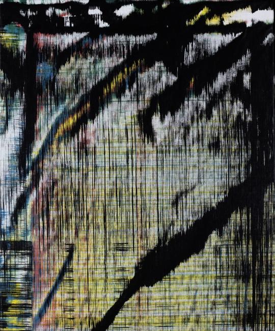 Sergio Barrera. Antigesto (rizomas), nº 3. 48 x 39 cm. Acrílico sobre lienzo. 2016 – Cortesía de SET ESPAI D'ART