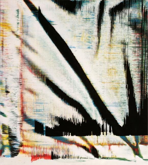Sergio Barrera. Antigesto (rizomas), nº 4. 50 x 45 cm. Acrílico sobre lienzo. 2016 – Cortesía de SET ESPAI D'ART