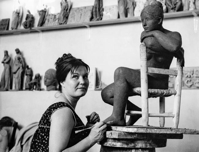 Luisa Granero en taller de Pomaret – Cortesía de Román y Asociados Consultores de Comunicación