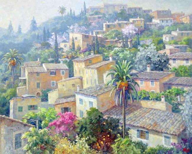 "Guillermo Gil, ""Por Deyá"", óleo sobre tela, 130x162 cms."