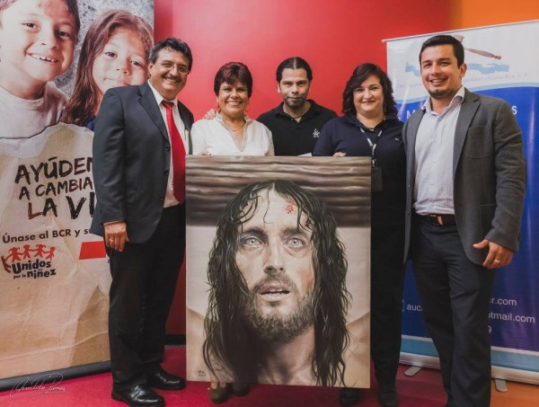 Impresionante acrílico del artista Osvaldo Ramos